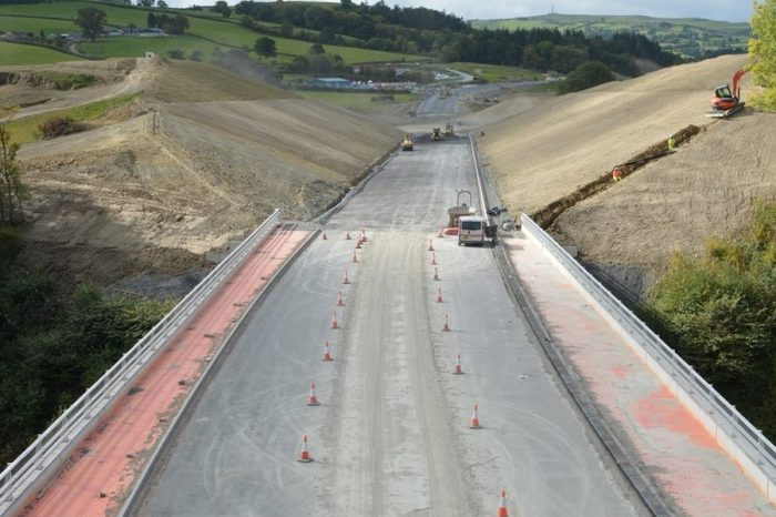 Work on Newtown's £80 million bypass in final stages