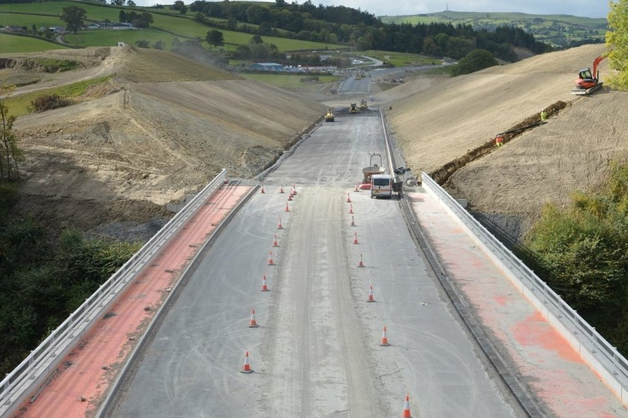 Photographer Clive Williams took this picture of the new Dolfor bridge, the biggest structure on the Newtown bypass route