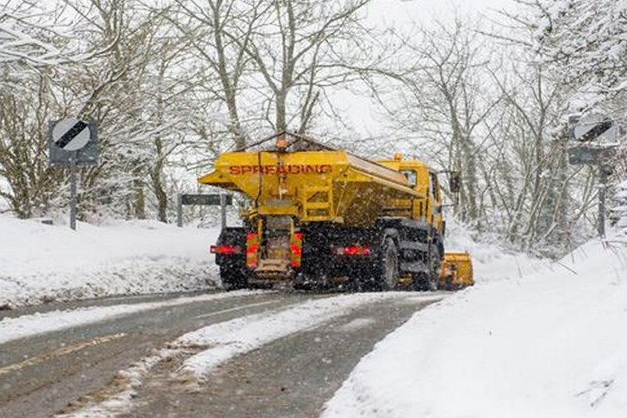 Gritters are being hit by drivers (Image: Staffordshire County Council)