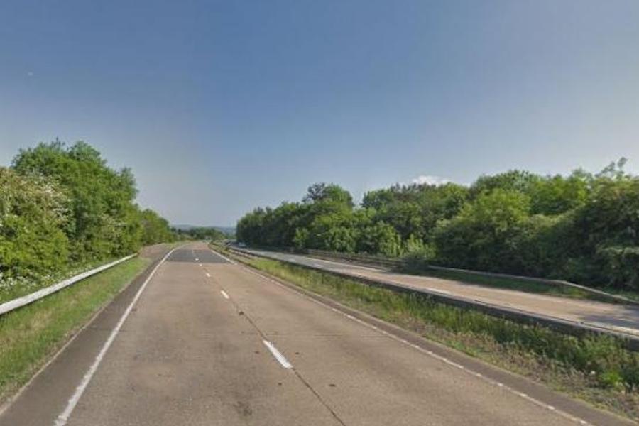 The A40 between Raglan and Abergavenny (Google Street View)