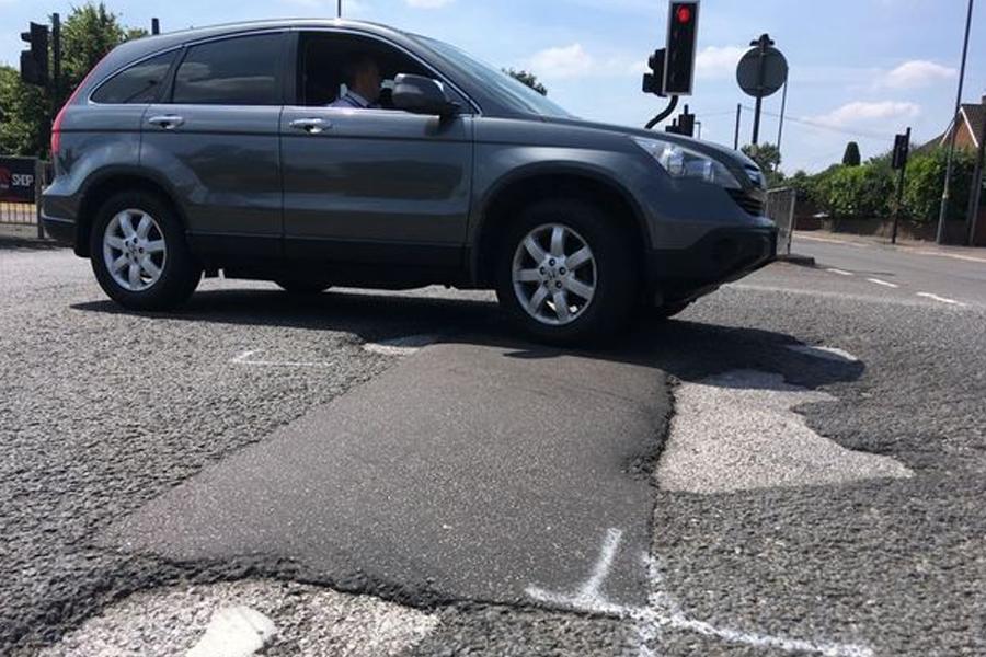 Kingsbury Road in Minworth which has 169 potholes (Image: Birmingham Mail)