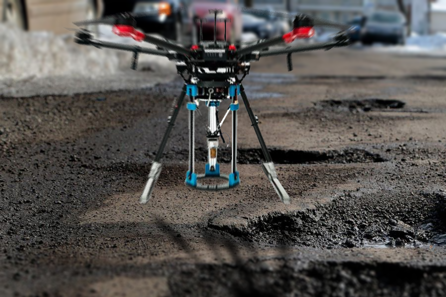 How Leeds could become world's first city to use drones to prevent potholes.