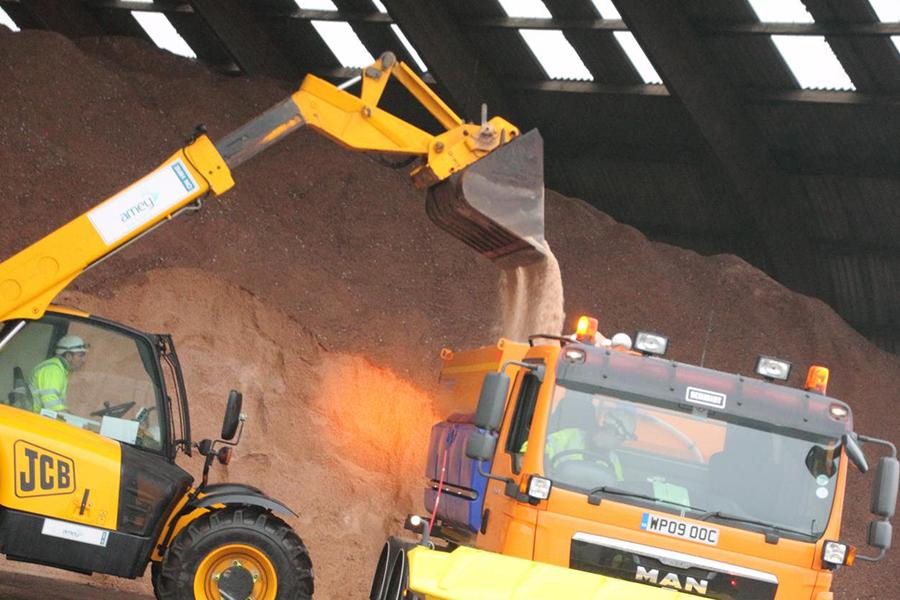 Highways England salt ready to get to work
