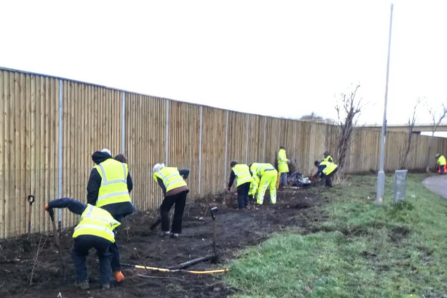 Noise barriers have been put up along the A1