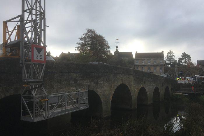 Ringway Wiltshire work on town bridge