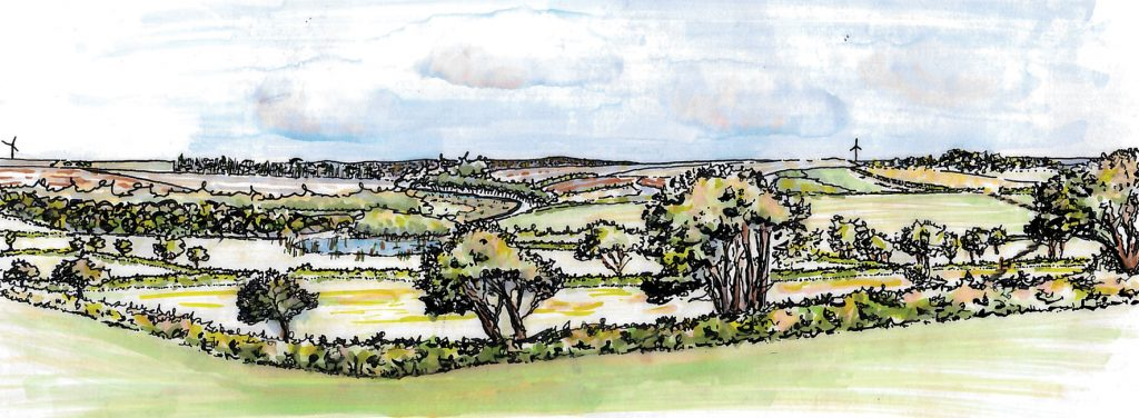 An artist's impression of the central Cornwall landscape following completion of the Designated Funds schemes