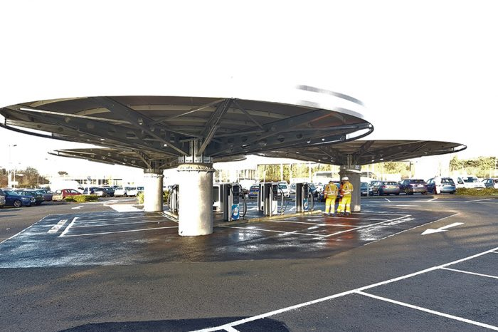 Ringway Milton Keynes | Completing innovative Electric Vehicle Ultrafast charging hub design and build project