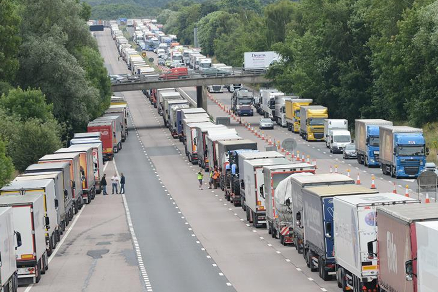 Operation Stack between junction 9 and 10 of the M20 in 2015. Picture: Gary Browne