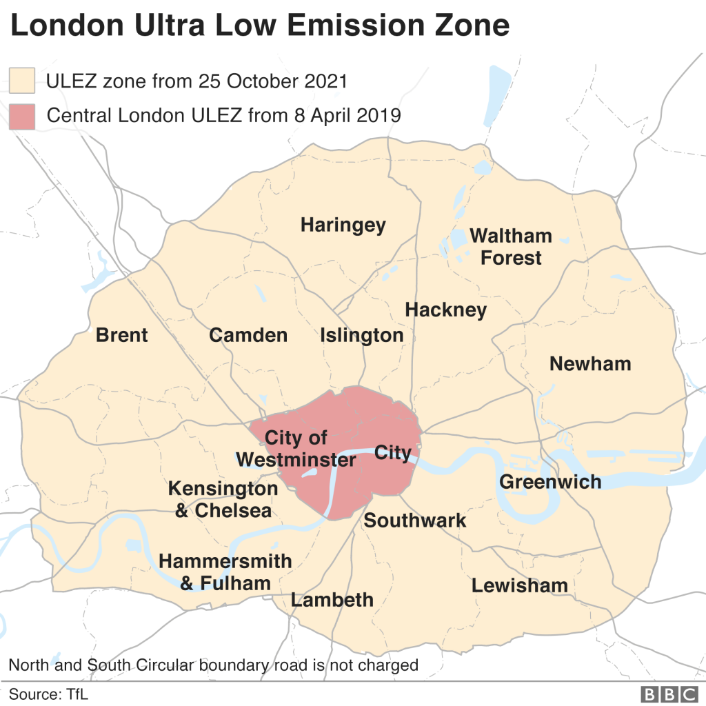 London's ULEZ zone proposals for 2019 and 2021