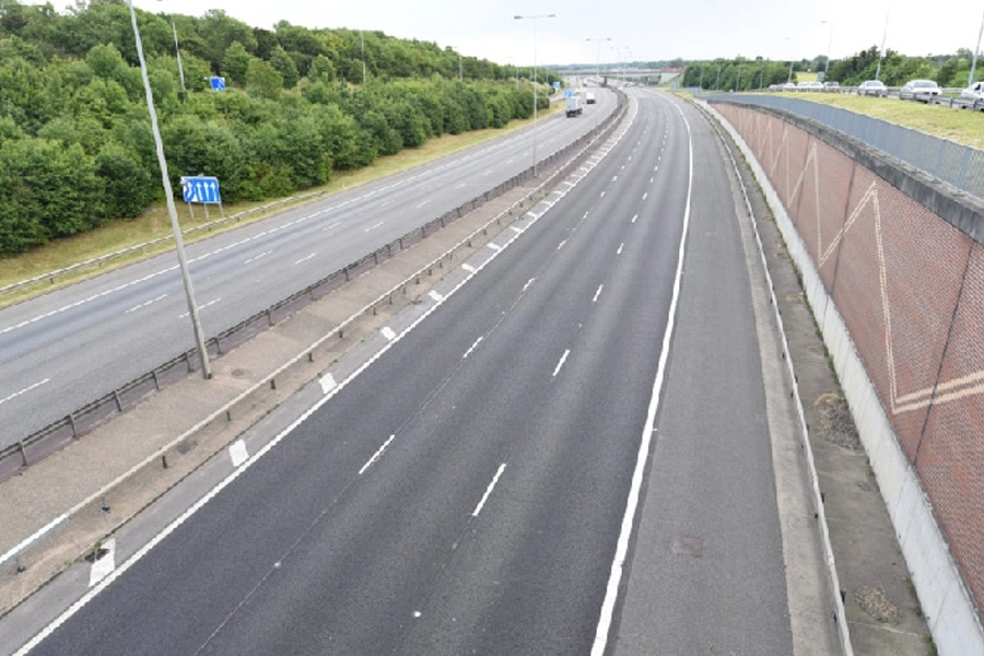 The A1 (M) near Peterborough