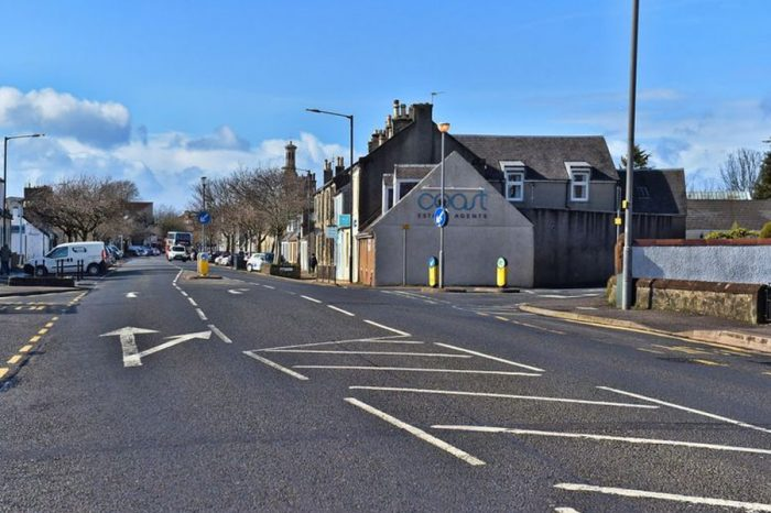 North Ayrshire roadworks: B7081 Annick Road in Irvine at west of pedestrian crossing to East Road at a cost of £76,000. (Image: Irvine Herald)