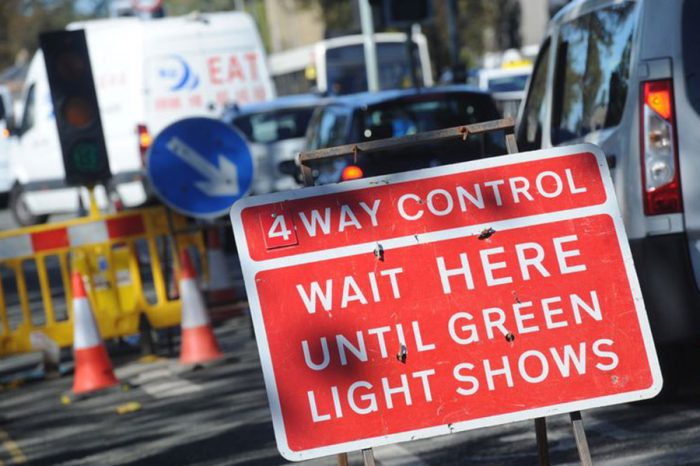 Roadworks mean we can't live a normal life