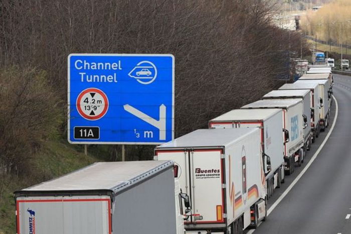 The blockade is being organised by anti-EU group Brexit Direct Action (Image: Gareth Fuller/PA Wire)
