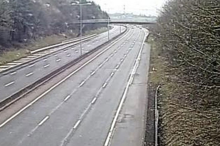 The barren, closed M5 after a fatal collisoon