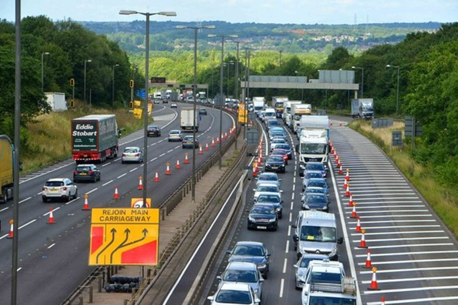 Long queues at the M5 towards West Bromwich have become a familiar sight