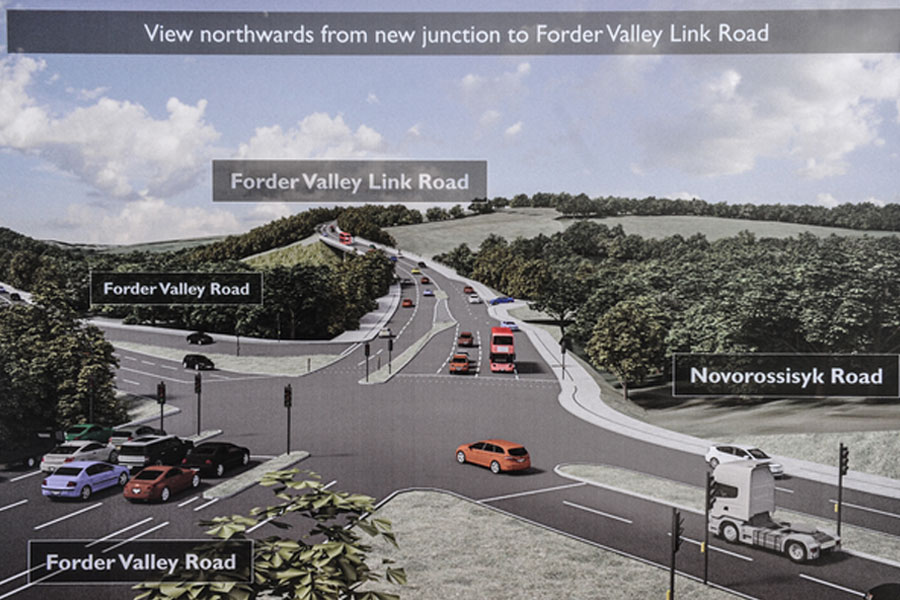 How the Forder Valley Link Road will link up with the rest of Plymouth