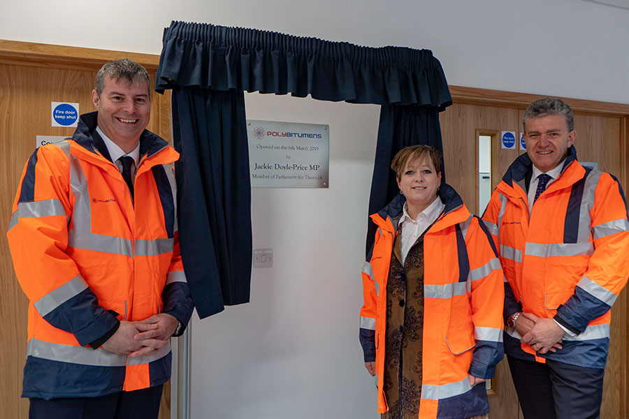 From left to Right: Paul Goosey, Jackie Doyle Price and Scott Wardrop at the opening