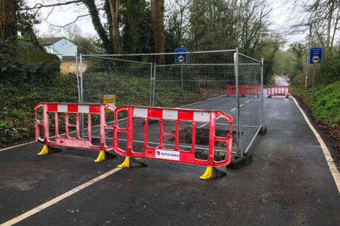 Herts County Council investigate how sinkhole appeared