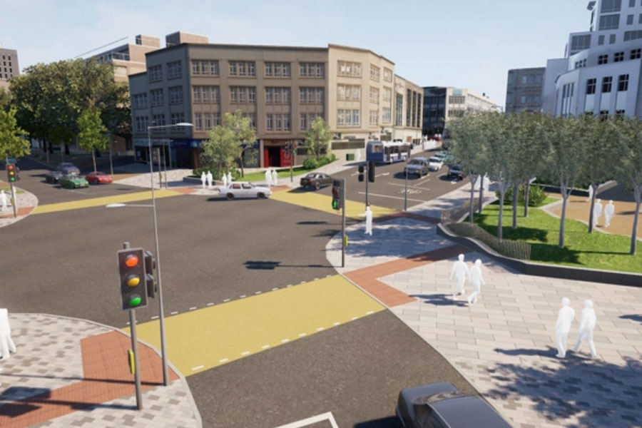 Kingsway route will be transformed into a city park with street trees and enhanced pedestrian and cycling routes.