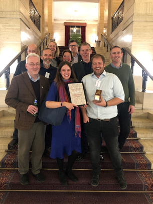 """The team bagged the  the """"Rescue Project of the Year"""" accolade in the 2019 Current Archaeology Awards"""