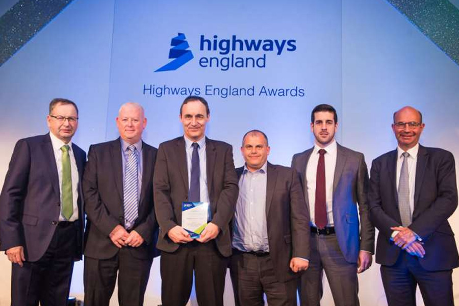 AI win coveted Highways England safety award