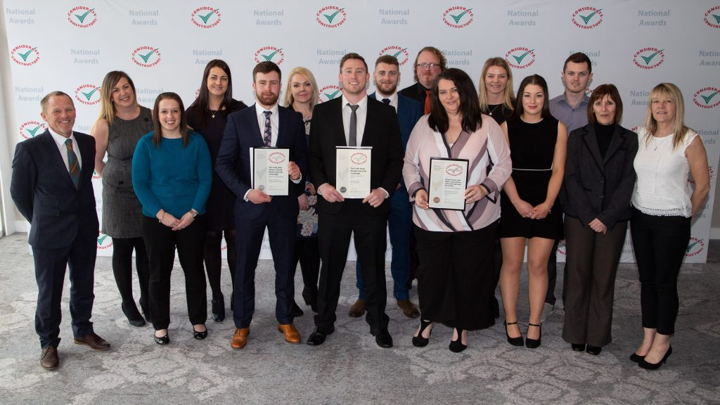 The Eurovia Team collects and showcase their awards