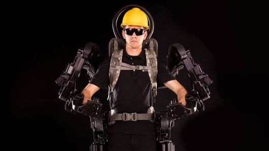 An exoskeleton is an external frame that can be worn to support the body, either to help a person overcome an injury or to enhance their biological capacities