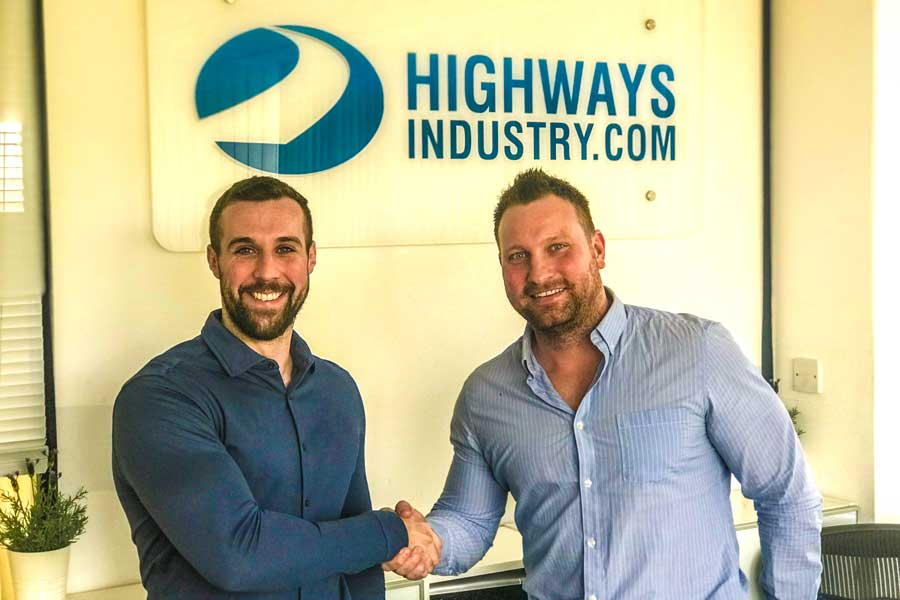 Matt Lambert (Left) welcomes Gavin Harrison to HighwaysIndustry.Com