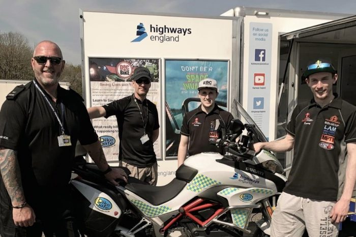 Silverstone riders back Highways England motorbike safety campaign