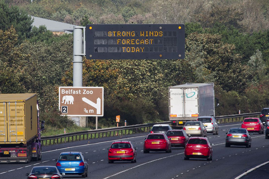 A report has said motorway junction numbers should be moved from the left as their location is contributing to careless driving. (PA)