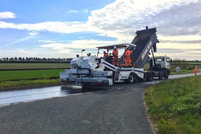 Surface dressing will give longer life to miles of road