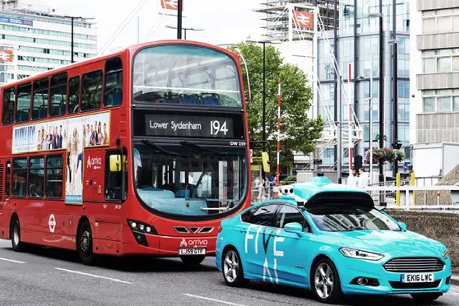 FiveAI has started testing five self-driving cars in Bromley and Croydon as the latest step in its plans to eventually roll out a service in London. Photograph: FiveAI/PA