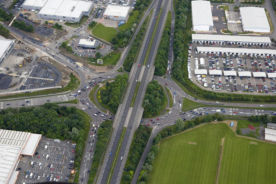 How the roundabout used to look in June 2016