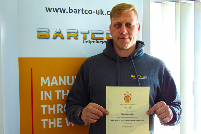 Bartco UK | Continued Investment in staff supports ISO 45001 Accrediatation