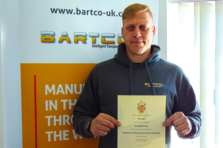 Tim Hill showcases his Managing Safety accreditation
