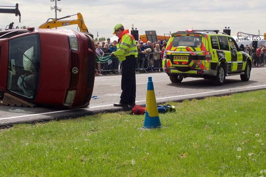 A demonstration by Highways England at last year's Nottinghamshire County Show.