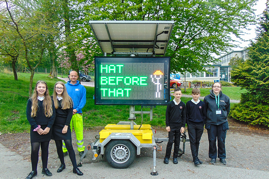Year 8 children bring their 'Hat before that' safety message to life