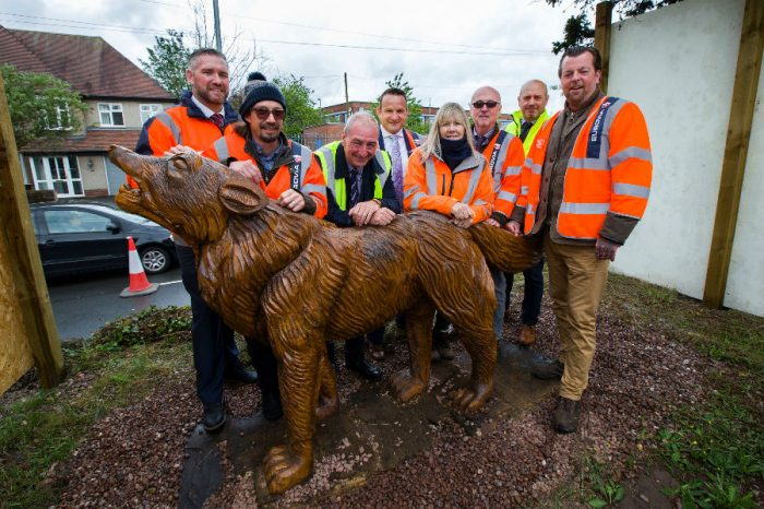Eurovia Contracting | Iconic wolves unveiled on Eurovia Contracting scheme in Wolverhampton