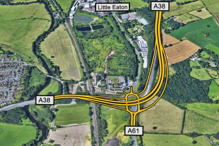 Significant stage reached in major Derby A38 roadworks project