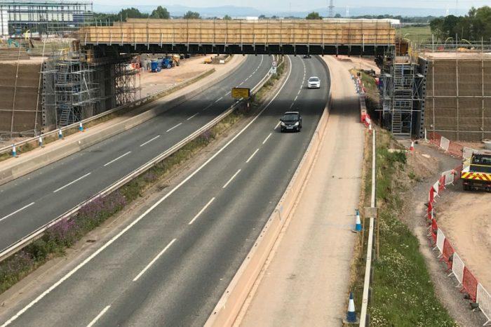 Timelapse footage captures major milestone for M49 junction scheme at Avonmouth