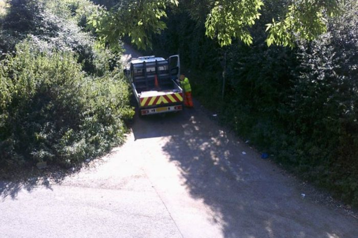 Council investigating claims road worker dumped sign at fly tipping hot spot