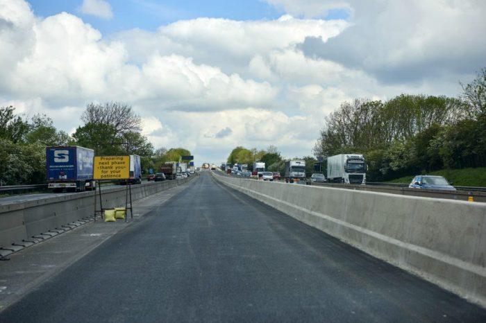 Safer barriers installed in motorway upgrade