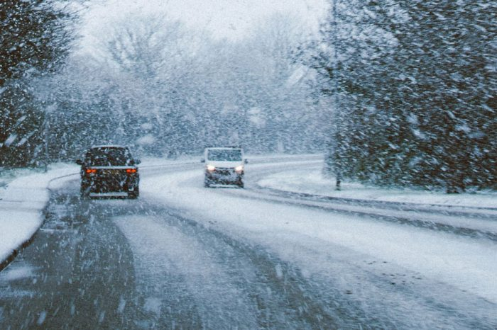 Dangerous conditions on UK roads as snow arrives