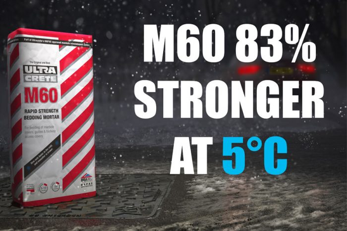 Instarmac | UltraCrete M60 bedding mortar is proven to outperform competitors at cold temperatures