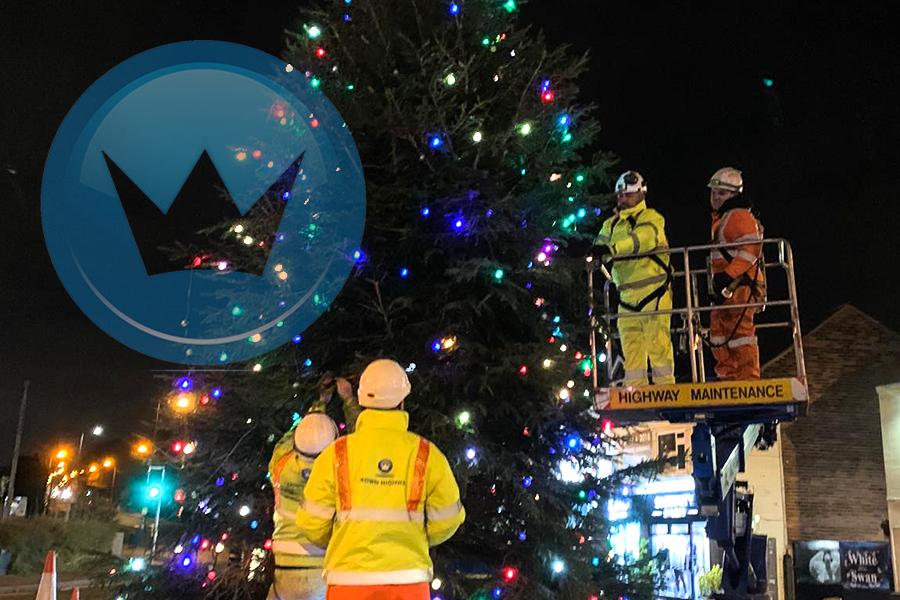 Crown Highways help their ocal community prepare for Christmas