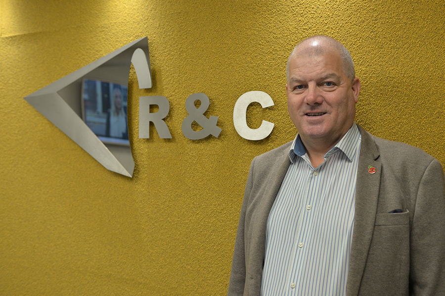 Peter Gutteridge at R&C Willias offices