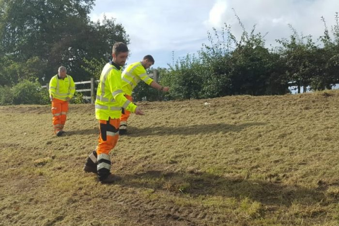 Highways England and community dig deep to plant poppies along Remembrance Way
