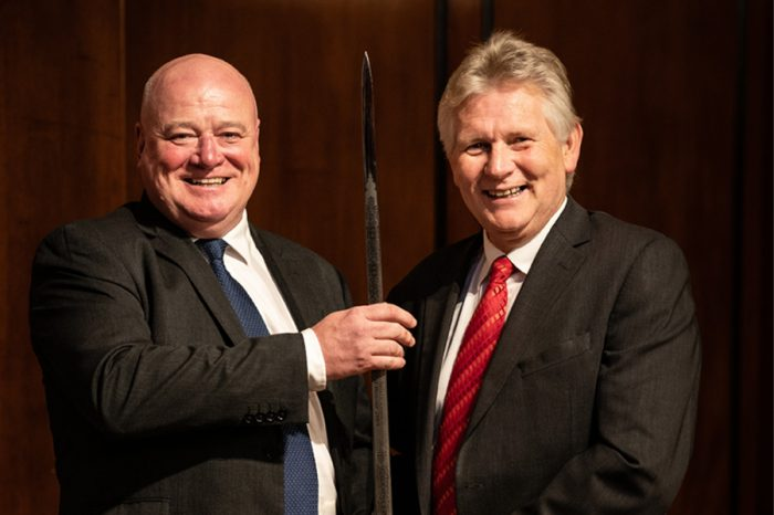 Ringway Jacobs | Receiving the prestigious Sword of Honour award from the British Safety Council