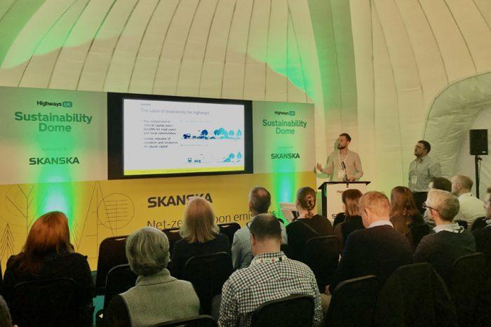 SkanskaandHighways UK celebrate sustainability partnership followingindustry'sbiggestannual event