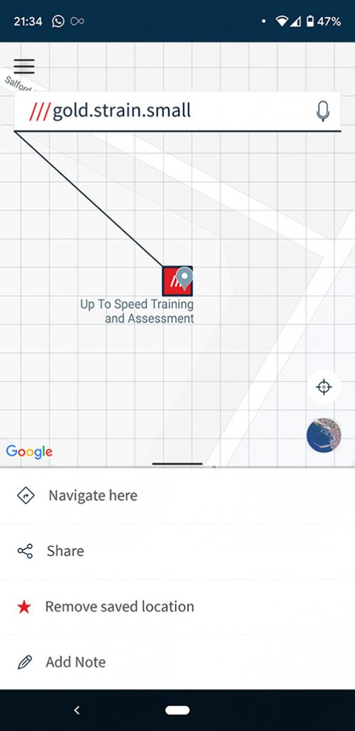 Screenshot from what 3 words